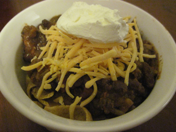 Crockpot chili recipe for Super Bowl Party